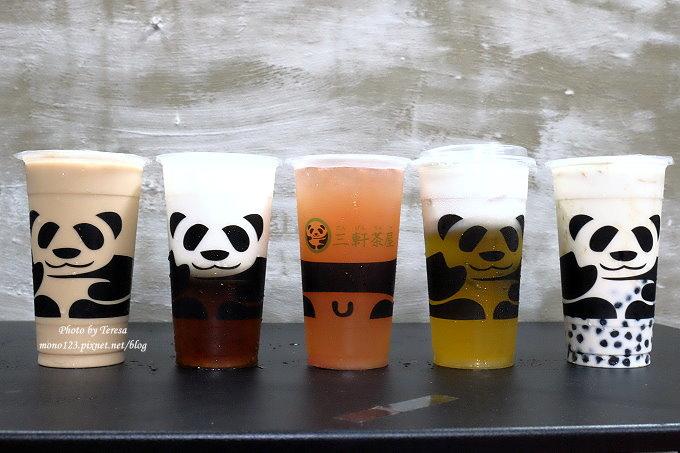 台中北區︱三軒茶屋.萌萌的貓熊爬上杯子,吸睛又療癒,漸層的奶霜、鮮奶茶系列好喝度百分百,小三美日旁、新宿廣場對面 @QQ的懶骨頭