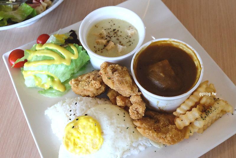 台中豐原︱小樹廚房.結合義式、日式、中式的複合式餐廳,餐點表現中規中矩,推燉飯系列 @QQ的懶骨頭