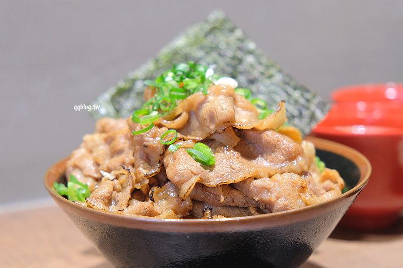 台中西區︱川牛木石亭.炙燒牛肉丼飯肉量多,平價又美味,一路營業到凌晨,宵夜來上一碗很可以 @QQ的懶骨頭