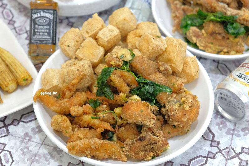 台中豐原︱台灣第一家鹽酥雞.田心路人氣炸物攤,想吃要有耐心,建議電話預訂再取餐很方便 @QQ的懶骨頭