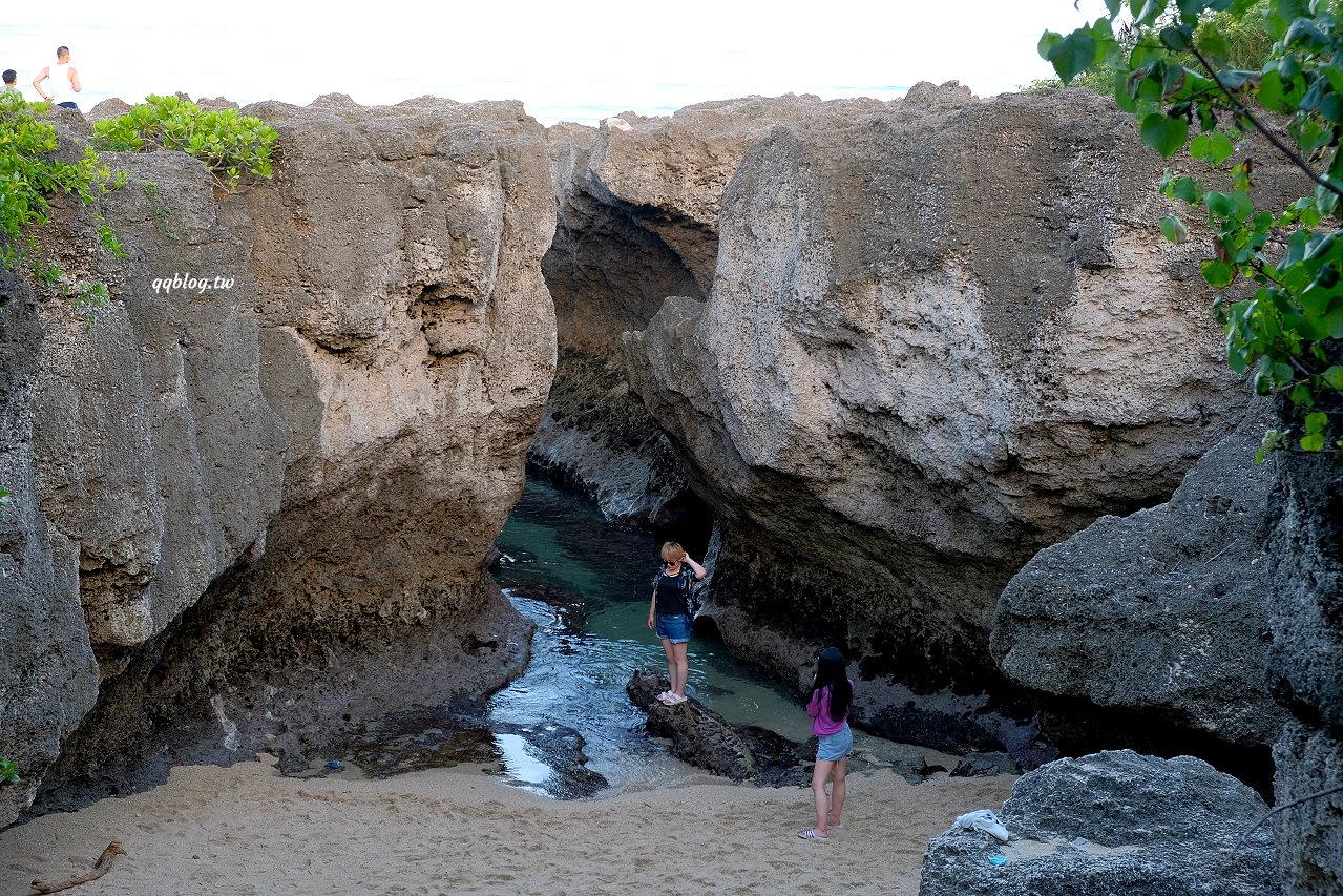 屏東琉球︱龍蝦洞.海蝕侵襲後的特殊地形,拍網美照很可以 @QQ的懶骨頭