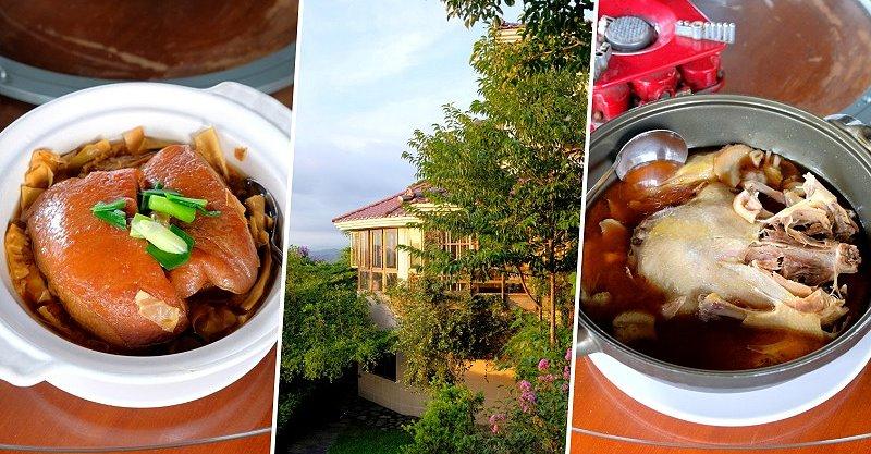台中石岡︱仙塘跡餐廳.半山腰上的景觀農家餐廳,燜鴨、香煎豬肝招牌必點,品嚐客家菜的古早味料理 @QQ的懶骨頭